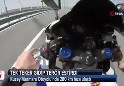 Kuzey Marmara Otoyolunda 280 km hıza ulaştı
