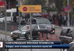 Cumhurbaşkanı Erdoğan, anne ve babasının kabrini ziyaret etti