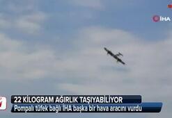 Pompalı tüfek bağlı İHA başka bir hava aracını vurdu