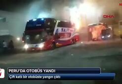 Peruda otobüs yandı 20 ölü, 7 yaralı