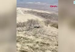 Arazi yarışında feci kaza kamerada