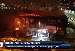 Kocaelide fabrika yangını: Kontrol altına alındı