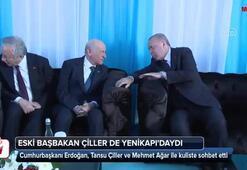 Eski Başbakan Çiller de Yenikapıdaydı