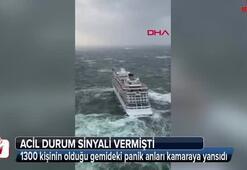 Gemideki panik anları kameraya yansıdı