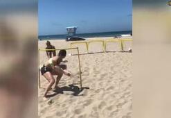Kumsalda futbol şov