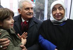 Binali-Semiha Yıldırım çifti Gebze-Halkalı treninde