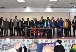 HDPnin kutlama programında skandal terör propagandası görüntüsü