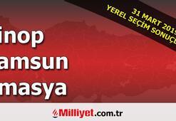 Sinop Samsun Amasya seçim sonuçları | 2019 seçim sonuçları ve oy oranları