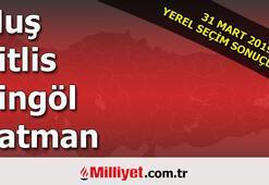 Muş Bitlis Bingöl Batman seçim sonuçları | 2019 seçim sonuçları ve oy oranları
