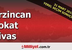 Erzincan Tokat Sivas seçim sonuçları | 2019 Seçim sonuçları ve oy oranları