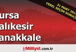 Bursa Balıkesir Çanakkale seçim sonuçları | 2019 seçim sonuçları ve oy oranları