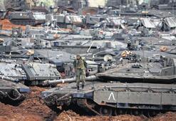 Gazze sınırına tehlikeli yığınak