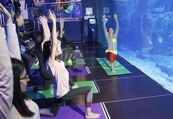 Ece Vahapoğlu hayranlarına yoga dersi verdi