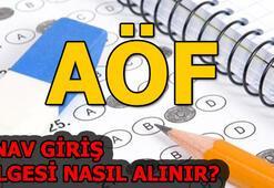 Açıköğretim Fakültesi(AÖF) sınav giriş belgesi nasıl alınır (13-14 Nisan)