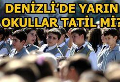 Denizlide yarın okullar tatil mi Denizli Valisi duyurdu: 26-27 Martta okullar...