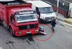 4 yaşındaki Muhammedin kamyonun altında kaldığı kaza, kamerada