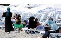 Antalya kadınlar plajında gerginlik