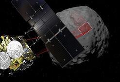 Hayabusa2 krater oluşturmak için asteroide patlayıcı bıraktı