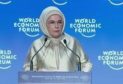 Emine Erdoğan, Dünya Ekonomik Forumunda konuştu