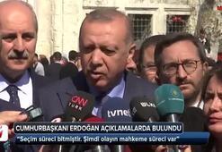 Cumhurbaşkanı Erdoğan: Seçim süreci bitmiştir. Şimdi olayın mahkeme süreci var