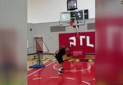 Bu antrenmanda futbol ve basketbol bir arada