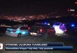 Otomobille 60 metrelik uçurumdan yuvarlandılar: 1 ölü 1 yaralı