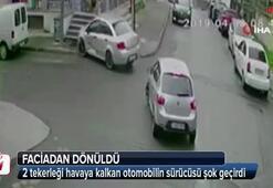 İstanbul'da faciadan dönülen anlar kamerada