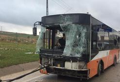 Gaziantepte belediye otobüsü devrildi: 19 yaralı