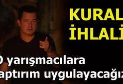 Survivorda Türk yarışmacılardan kural ihlali Acun Ilıcalı böyle uyardı...