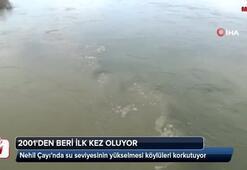Nehil Çayı'nda su seviyesinin yükselmesi köylüleri korkutuyor