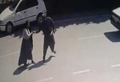 Son dakika: Koca şiddeti anbean kameralara yansıdı Yürek sızlatan görüntü