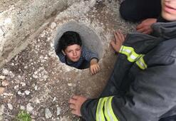 Sadece kafası gözüküyordu Küçük çocuğu bu halde buldular...