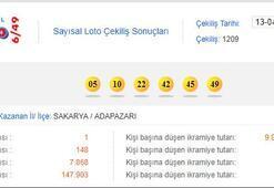 Sayısal Loto çekili sonuçları (MPİ 13 Nisan Sayısal Loto sonuç sorgulama ekranı)