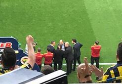 Başkan Ali Koç ve Abdurrahim Albayrakın görüntüsü dikkat çekti