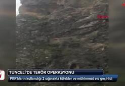Tuncelide 2 sığınak imha edildi