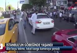 İstanbulun göbeğinde aile boyu kavga kamerada
