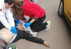Direksiyon başında kalp krizi geçirdi Önce bariyere ardından kadına çarptı