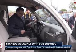 İstanbulda çalınan araç Suriyede bulundu
