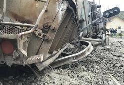 Malatyada tren kazası Maden yüklü vagonlar devrildi