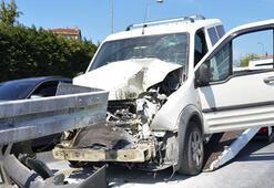 Ok gibi saplandı İstanbulda korkunç kaza