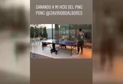 Thiago Alcantara masa tenisinde becerisini gösterdi