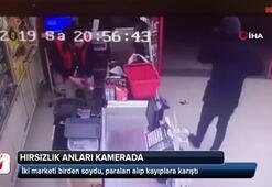 İki marketi birden soydu