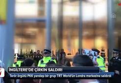 PKK yandaşlarından Londrada TRT World binasına saldırı