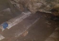 3 girişli mağarada bulundu İnfaz etmişler