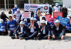 Bolu Belediyesinde işten çıkarılan işçilerden oturma eylemi