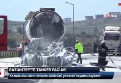 Yağ yüklü tanker, kömür yüklü tıra çarptı
