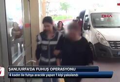 Şanlıurfada fuhuş operasyonu 5 gözaltı