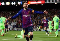 Messi attı, şampiyonluk Barcelonaya geldi 66 yıllık rekor...