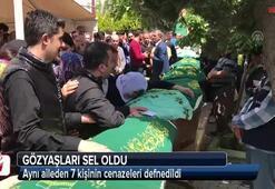 Aynı aileden 7 kişinin cenazeleri defnedildi