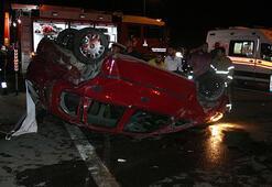 İzmirde zincirleme trafik kazası: 1 yaralı